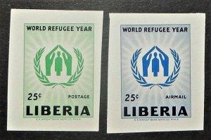 Liberia 388, C124 var. 1960 WRY, imperforate, NH