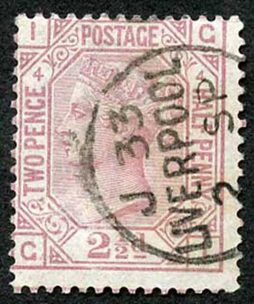 SG141 2 1/2d Rosy Mauve Plate 4 SUPERB LIVERPOOL CDS