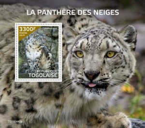 TOGO - 2019 - Snow  Leopard - Perf Souv Sheet  - M N H