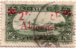 Alaouites 2p surcharge 1928
