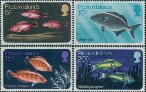 Pitcairn Islands 1970 SG111-114 Fish set MNH