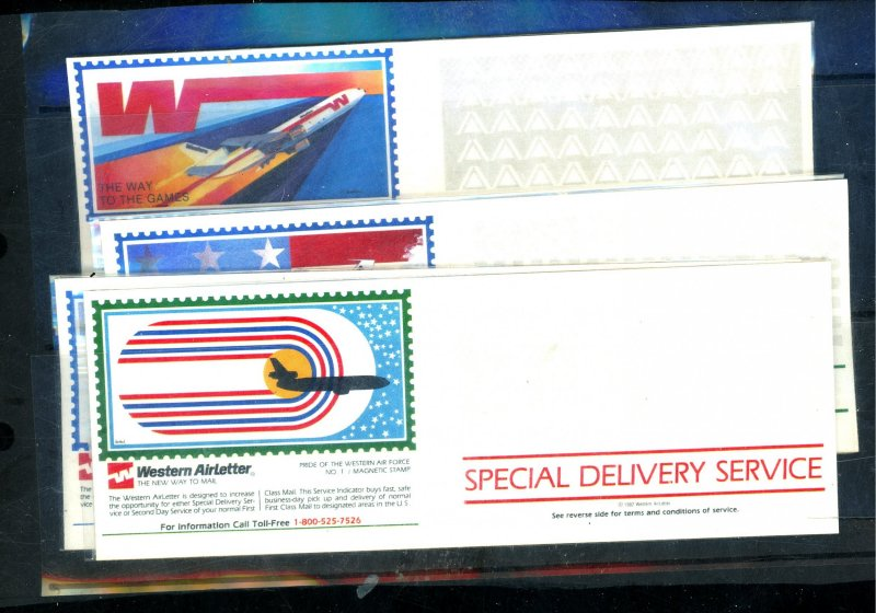 WESTERN AIR LETTERS 1LC7-10 MINT VF