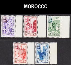 Morocco Scott 8-12 complete set F to VF mint OG NH.