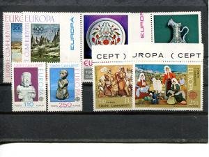 Turkey  Europa lot VF NH album adhesion