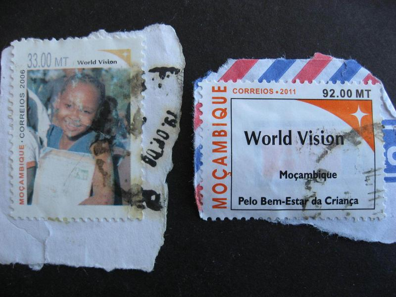 MOZAMBIQUE Sc 1746A (faulty) + a 2011 issue postally used on piece check m out!