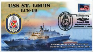 20-199, 2020, USS St Louis, Pictorial Postmark, LCS-19, Commissioning