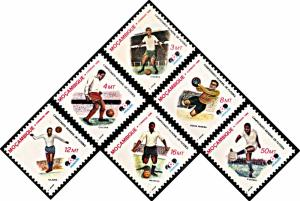 Mozambique 979-984, MNH, World Cup Football Championship, Mexico