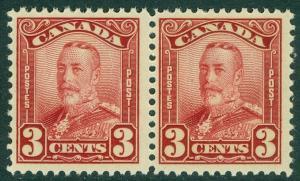 EDW1949SELL : CANADA 1928-29 Scott #151 pair Mint Never Hinged PO Fresh Cat $110