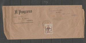 Malta, IL Progress paper letter to HC Luke, Lieutenant Governor of Malta 1930/6,
