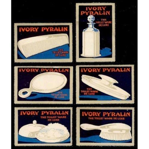 Ivory Pyralin Toilet Ware Advertising Poster Stamps