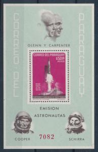 [72807] Paraguay 1964 Space Travel Weltraum Souvenir Sheet MLH