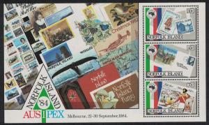 Norfolk 'Ausipex' International Stamp Exhibition Melbourne MS SG#MS346 SC#346a