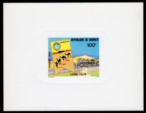 Djibouti 1980 Sc#510 LIONS CLUB - TRAIN - CAMELS - DELUXE SOUVENIR SHEET  MNH