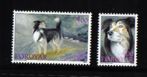 Faroe Islands 1994 MNH  sheepdogs  complete