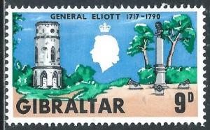 Gibraltar, Sc #206, 9d MH