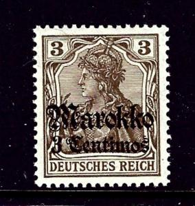 Germany-Offices in Morocco 20 MH 1905 overprint