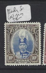 MALAYA KEDAH  (P0609B) SULTAN 10C      SG 60   MOG