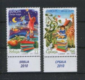 SERBIA-MNH** SET-EUROPA CEPT-CHILDREN'S BOOKS-2010.