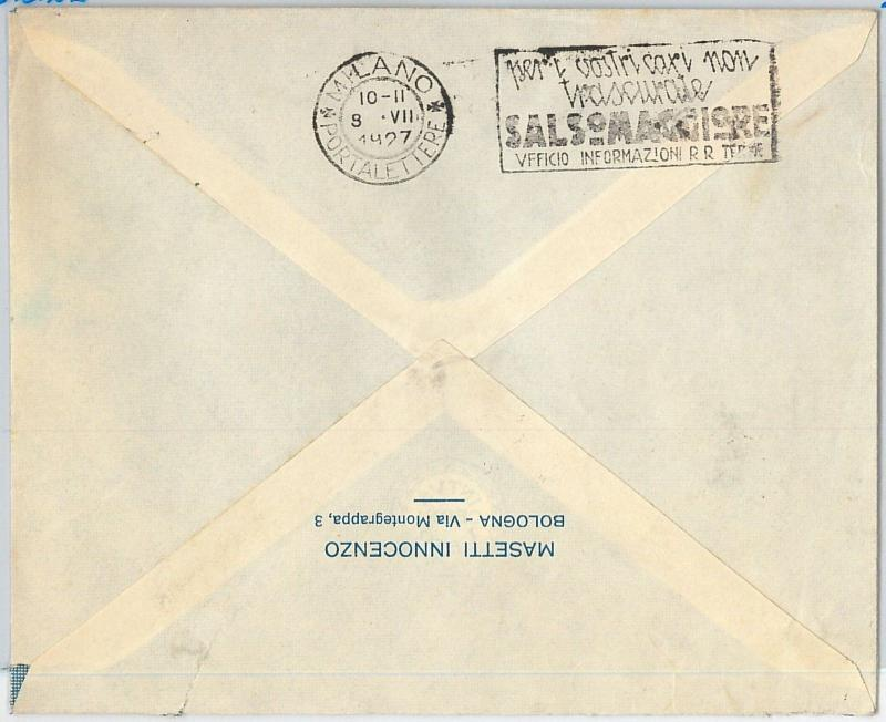 59769 - ITALY - POSTAL HISTORY:  COVER  1927 -  MEDICINE: Salsomaggiore  SPRINGS