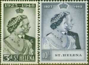 St Helena 1948 RSW set of 2 SG143-144 Fine MNH