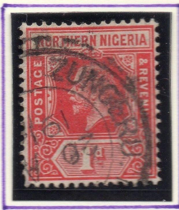 Northern Nigeria 1912 Early Issue Fine Used 1d. 055597