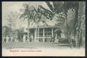 SINGAPORE c1910 postcard European Residence Tanglin, fine unused...........89877