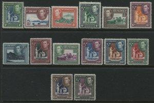 St. Vincent KGVI 1949 complete set mint o.g. hinged