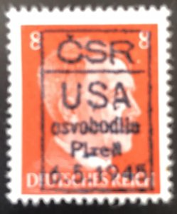 Germany 1945 Hitler 8pf Osvobodie Ovpt-MNH
