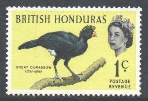 Br Honduras Scott 167 - SG202, 1962 Birds 1c MNH**