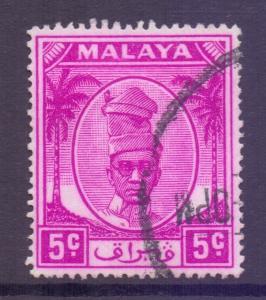Malaya Perak Scott 120 - SG132, 1950 Sultan 5c used