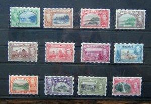 Trinidad & Tobago 1938 - 44 to 60c MM (1c slightly toned 2c unused)