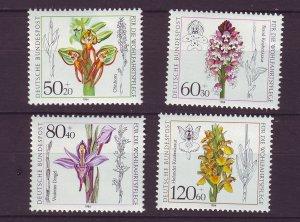 J24578 JLstamps 1984 germany set mnh #b623-6 flowers
