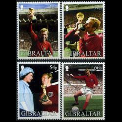 GIBRALTAR 2002 - Scott# 905-8 W.Cup Soccer Set of 4 NH