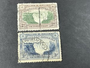 SOUTHERN RHODESIA # 31-32-USED---COMPLETE SET---1932