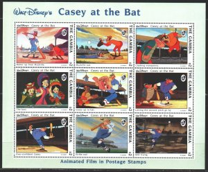 Gambia. 1993. Small sheet 1758-66. Animation, Disney. MNH.