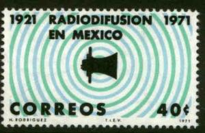 MEXICO 1034 50th Anniv 1st radio broadcast in Lat Amer Unusd