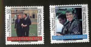 CHRISTMAS ISLAND 187-188 MH SCV $1.45 BIN $0.60 ROYALTY