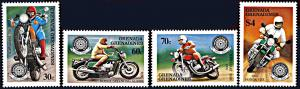 Grenada Grenadines 642-645, MNH, Centennial of Motorcycles