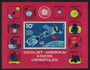 Hungary Apollo-Soyuz Space Link MS SG#MS2972