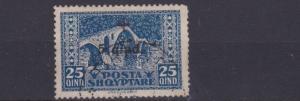 ALBANIA  1924    25Q + 5Q   BLUE    RED CROSS     USED