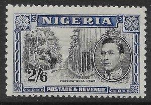 NIGERIA SG58 1938 2/6 BLACK & BLUE p13x11½ MTD MINT