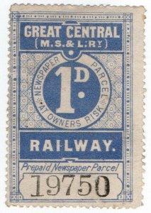 (I.B) Great Central (MS&L) Railway : Newspaper Parcel 1d