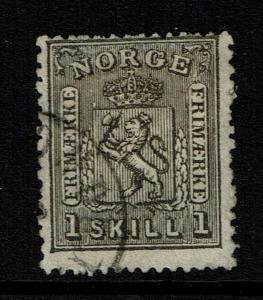Norway SC# 11, Used, Hinge Remnant - Lot 012917