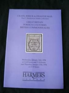 HARMERS AUCTION CATALOGUE 1994 CRASH WRECK & DISASTER MAIL