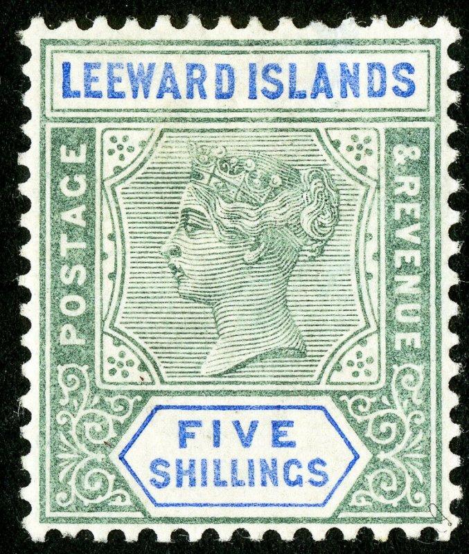 Leeward Islands Stamps # 8 MLH VF Scott Value $145.00