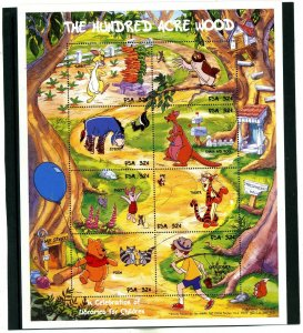 MICRONESIA 1998 WALT DISNEY WINNIE THE POOH SHEET OF 8 STAMPS MNH