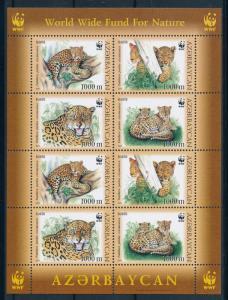 [94601] Azerbaijan 2005 Wild Life Leopard WWF Sheet MNH