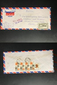 India Registered Cover to Finland City Cancel (1980s-1990s) Cover #2944