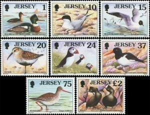 Great Britain Jersey 1997 Sc 778-785 Birds Merganser Tern Gull Puffin CV $10.85