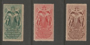 Cinderella or revenue Stamps 6-19-21- Italy gum mint- nice 1906 Milano